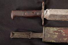 Spanish-American War Springfield Krag 1892 Rifle M1900 Bowie Bayonet & Scabbard