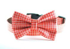 Dog Collar Bow Tie - Modern Gingham on Etsy, $15.98 CAD