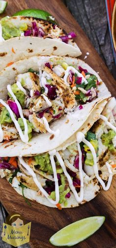 Mojito Lime Mahi Mahi Tacos with Citrus Dressed Southwestern Slaw - You're going to LOVE the big bold southwestern flavors, the big contrasts of textures, and the fact that you can go ahead and have another one because they are so healthy! Step-by-step photos on the blog. ♥