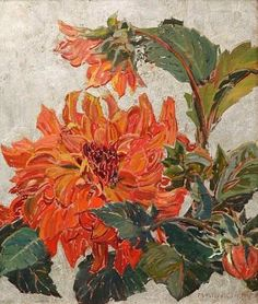 Dahlia by Mary Elizabeth Price (1877 – 1965)