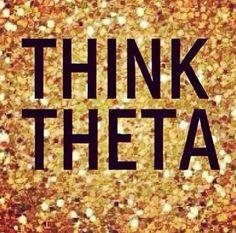Think Theta on sparkly gold!