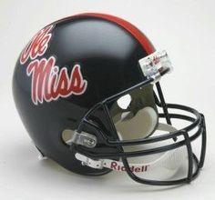 Mississippi Rebels Riddell Deluxe Replica Helmet Z157-9585588931