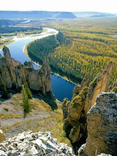 Lena Pillars Nature Park Russia
