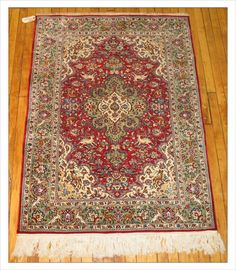 """Qum Rug Number: 4191 Size: 3'7"""" x 5'    Rugs R Us Online, A Division of J&D Oriental Rugs Co."""