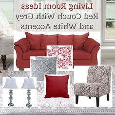 Reader Room Inspiration: How Do I Decorate with a Red Couch   Red ...
