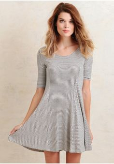 Afternoon Sailing Striped Dress