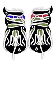 Persian typography  Illustration  Ninja Turtles