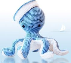 Amigurumi Crochet Octopus Patern Sailor Octopus Softie