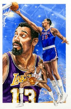 Wilt Chamberlain painting by Michael Taylor
