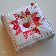 Super cute quilted pin cushion