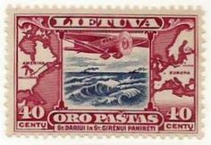 Lituania (1935) Atlantic Flight of Felix Vaitkus