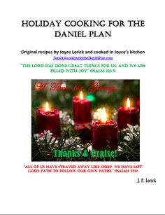 Daniel Plan Holiday Cookbook