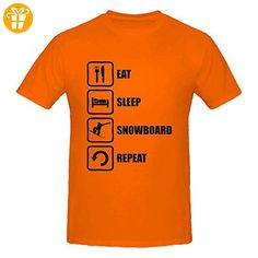 Eat Sleep Snowboard Repeat Funny Black Graphic Men's T-Shirt XX-Large (*Partner-Link)