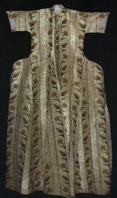 Ottoman kaftan from the Topkapı Palace Museum.  Brocaded silk.