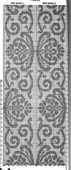 Venus Metallic Mini Damask wallpaper from Kenneth James in Charcoal Cross Stitch Bird, Cross Stitch Borders, Cross Stitch Embroidery, Cross Stitch Patterns, Crochet Patterns, Knitting Machine Patterns, Knitting Charts, Knitting Stitches, Filet Crochet Charts