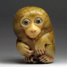 monkey netsuke