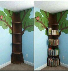 Via Kitchen Fun with my 3 Sons: tree bookshelf