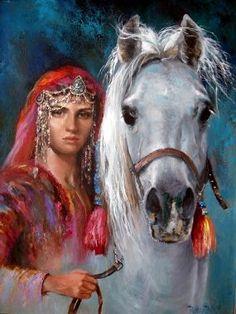Bildergebnis für girl with horse paintings
