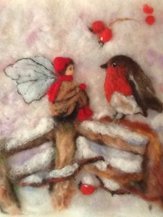 Felty Fairy with Bird