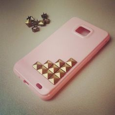 DIY Studed phone cases