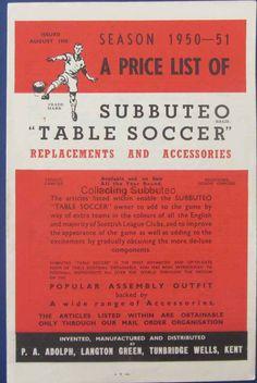 Subbuteo Catalogue 1950 1951