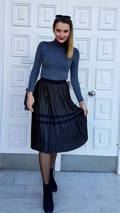 f434397980b1 Aldo Boots, Modest Clothing, Modest Outfits, Zara Skirts, W Dresses, Skirt  Fashion, Fashion Boots, Office Chic, Skirt Pants