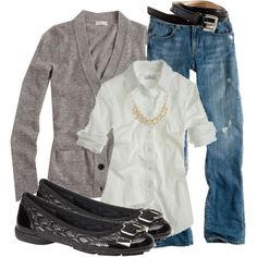 Love the distressed jeans