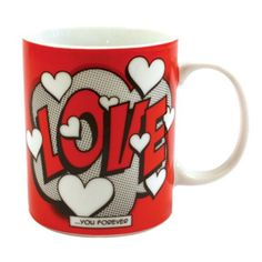Comic Book Love Mug Home Loft Concept Coffee Mug Sets, Mugs Set, Tea Mugs, Espresso Cups Set, Cappuccino Cups, Presents For Men, Gifts For Him, Shops, China Cups And Saucers