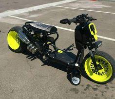 Mini Motorbike, Best Motorbike, 50cc Moped, Moped Scooter, Scooter Design, Bike Design, Scooter Custom, Custom Bikes, Custom Honda Ruckus
