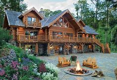 Log cabin with porch