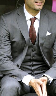 Gray 3 piece Suit