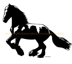 Horse- Friesian Horse wall decal,Horse sticker-Large decal 34 x 27 inches.