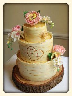 woodland wedding cake, inspired by the super fantastic Kasie Lackey