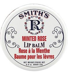 Drugstore find, plus adorable packaging: Smith's Rosebud Perfume Co. Minted Rose Lip Balm (0.8 oz.): Beauty