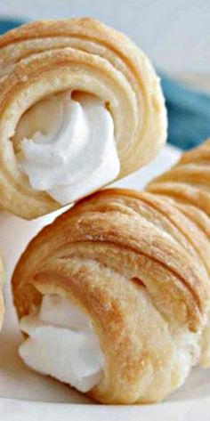 Puff Pastry Cream Horns ❊