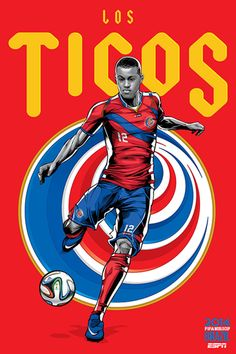 Costa Rica, Afiches fútbol Copa Mundial Brasil 2014 / World Cup posters by Cristiano Siqueira