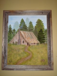 Old cabin painting