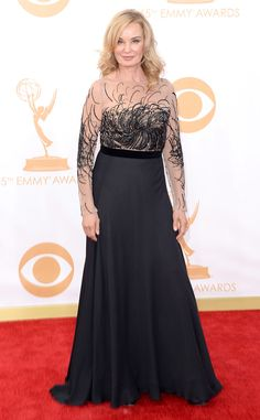 In Escada, Jessica Lange from 2013 Emmys: Red Carpet Arrivals | E! Online