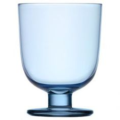 Lead-free drinking glass in light blue.   Product: GlassConstruction Material: GlassColor: Light blueFeatures: Stackable glass conserves storage spaceDimensions: 4.52 H x 3.3 Diameter Cleaning and Care: Dishwasher safe