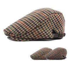 Basca in stil englezesc vintage, pentru barbati, material textil cu dungi si patratele, model casual Casual, Hats, Model, Vintage, Fashion, Moda, Hat, Fashion Styles
