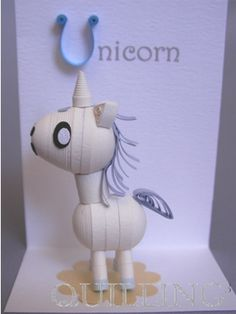 Unicorn (Unicorn) - shops of three-dimensional quilling kit ◆ quilling cube ◆