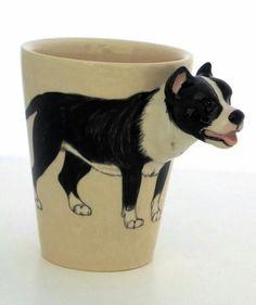 """3D"" Pit Bull Mugs"