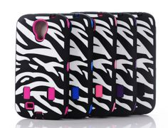 Silicone Zebra Motif Anti Shock Drop Protection for Galaxy S4