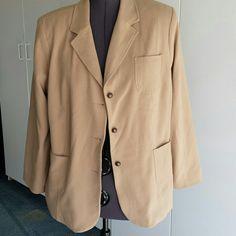 Tan blazer PLUS.W 22\24 Beautiful 47% polyester 38%rayon  10% wool 10%spandex Avenue Jackets & Coats Blazers