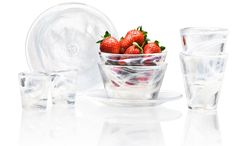 Heavy glass tableware from Kosta Boda. #quality #glass #bowl #tumbler #plate #tableware