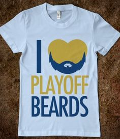 I sooooo want this shirt... *I <3 playoff beards* in Predators colors! Let's go #Preds Can't wait to see what round 2 brings!