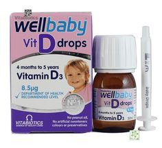 Vitamin D3 Wellbaby Vit D Drops Cho Bé Dạng Giọt Của Anh Giá Tốt (Thuốc Bổ Sung D3 Cho Trẻ Sơ Sinh)   Ba mẹ nào có con cũng đều mong muốn bé yêu của mình được khỏe mạnh và phát triển toàn diện. Nhưng ngoài chế độ ăn uống hợp lí thì việc cung cấp vitamin từ các sản phẩm hỗ trợ sức khỏe bên ngoài cũng vô cùng quan trọng. Một trong số những sản phẩm hữu ích như vậy chính là