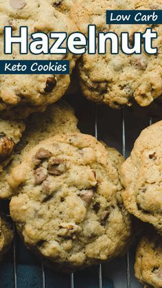 these easy hazelnut keto cookies have only 5 ingredients they are light and fluffy on the inside crunchy on the outside and fantastic as a t in 2020 hazelnut recipes keto pinterest