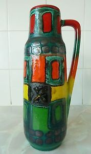 SCHEURICH ~  VASE by HEINZ SIERY ~ WEST GERMAN POTTERY ~ FAT LAVA