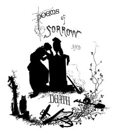 Antique Silhouette - Poems of Death - Halloween - The Graphics Fairy